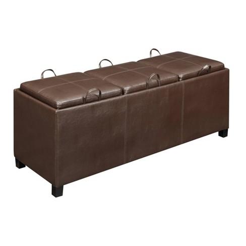 Designs4Comfort Tribeca Storage Ottoman - Convenience Concepts - image 1 of 5