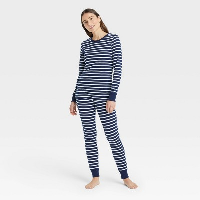 Women's Striped 100% Cotton Matching Family Pajama Set