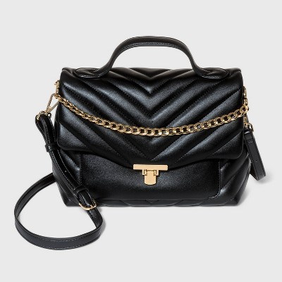 Quilted Top Handle Satchel Handbag - A New Day™