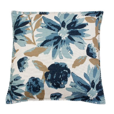 Set of 2 Oversize Square Throw Pillow Blue - Décor Therapy