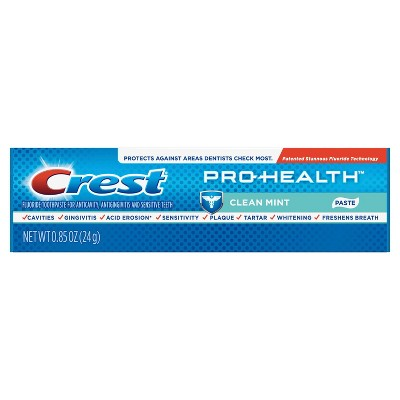 Crest Pro-Health Smooth Formula Clean Toothpaste - Mint - Trial Size - 0.85oz