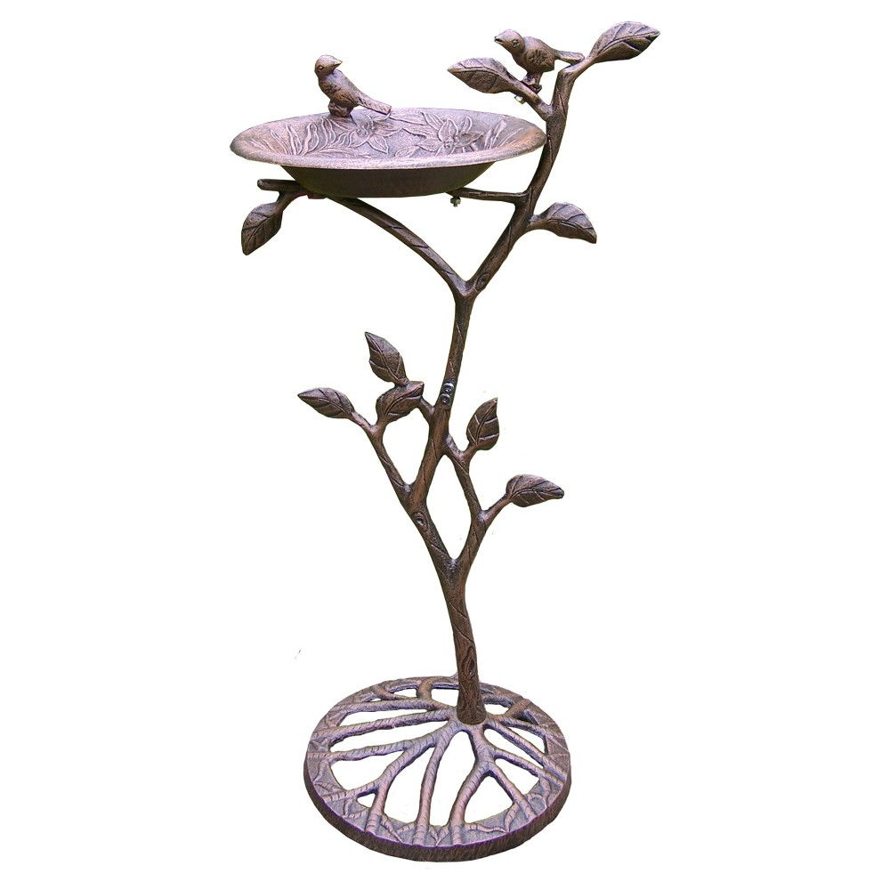 "Image of ""34"""" Meadow Birdbath - Antique Bronze"""