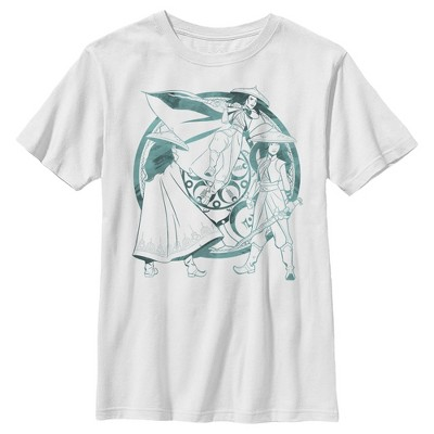 Boy's Raya and the Last Dragon Watercolor Raya T-Shirt