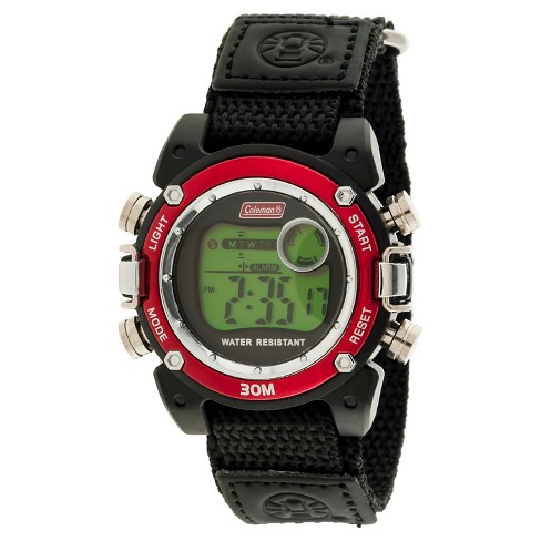 Boys' Coleman Digital Sportwrap Watch - Black/Red - image 1 of 1