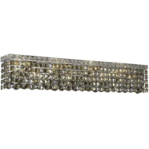 Elegant Lighting 2033W36C-GT Maxime 8-Light Crystal Wall Sconce, Finished in Chrome - image 1 of 1