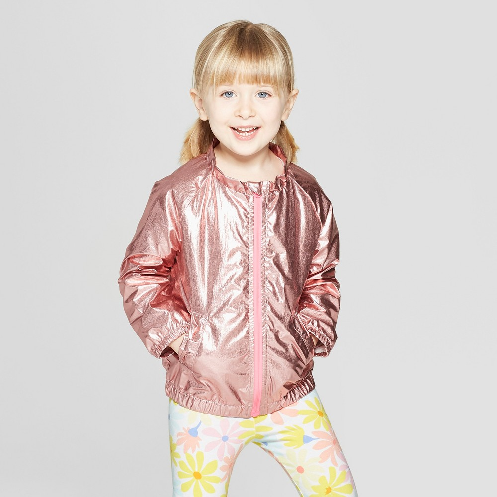 f51e86bd5 Toddler Girls Bomber Jacket Cat Jack Pink 3T