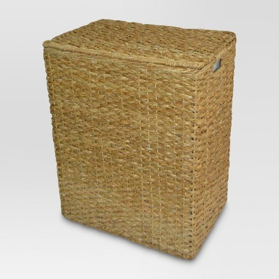 Seagrass Rectangular Divided Hamper - Tan - Threshold™