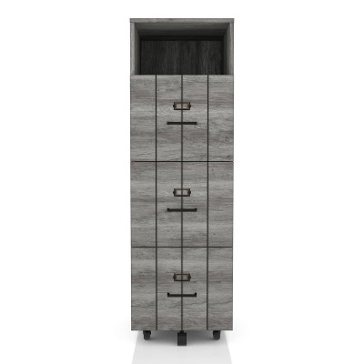 Namba 3 Drawer File Cabinet Gray - HOMES: Inside + Out