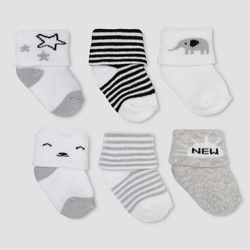 Gerber Baby 12-Pack White Terry Socks