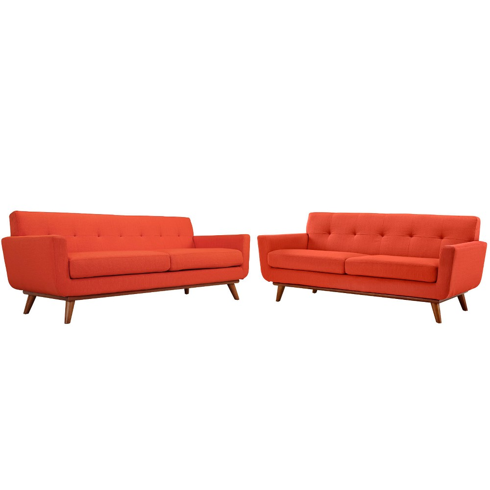 Engage Loveseat and Sofa Set of 2 Atomic Red - Modway