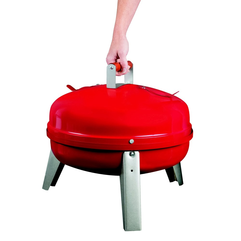 Image of Americana The Wherever Grill - Dual-Fuel Electric and Charcoal Model 2130.4.511 - Red - Meco
