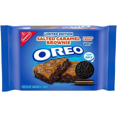 Oreo Limited Edition Salted Caramel Brownie Sandwich Cookies Family Size - 12oz