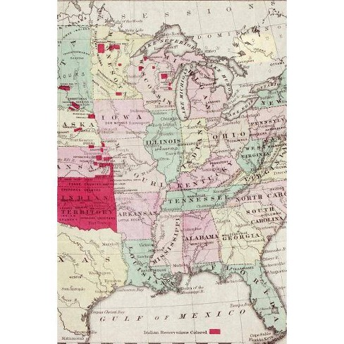 Map showing the location of the Indian [Native American] Tribes within the  United States - (Paperback)