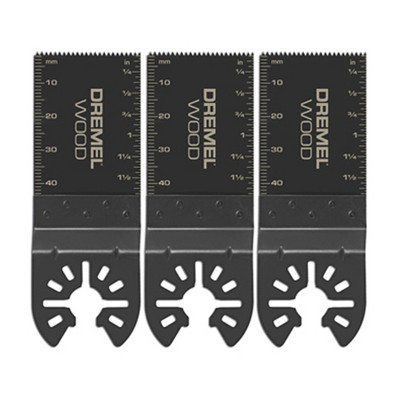Dremel 1.69-Inch QuickFit High Carbon Steel Oscillating Color-Coded Multi-Tool Flush Cut Blades for Wood, Plastic, and Drywall (3 Pack)