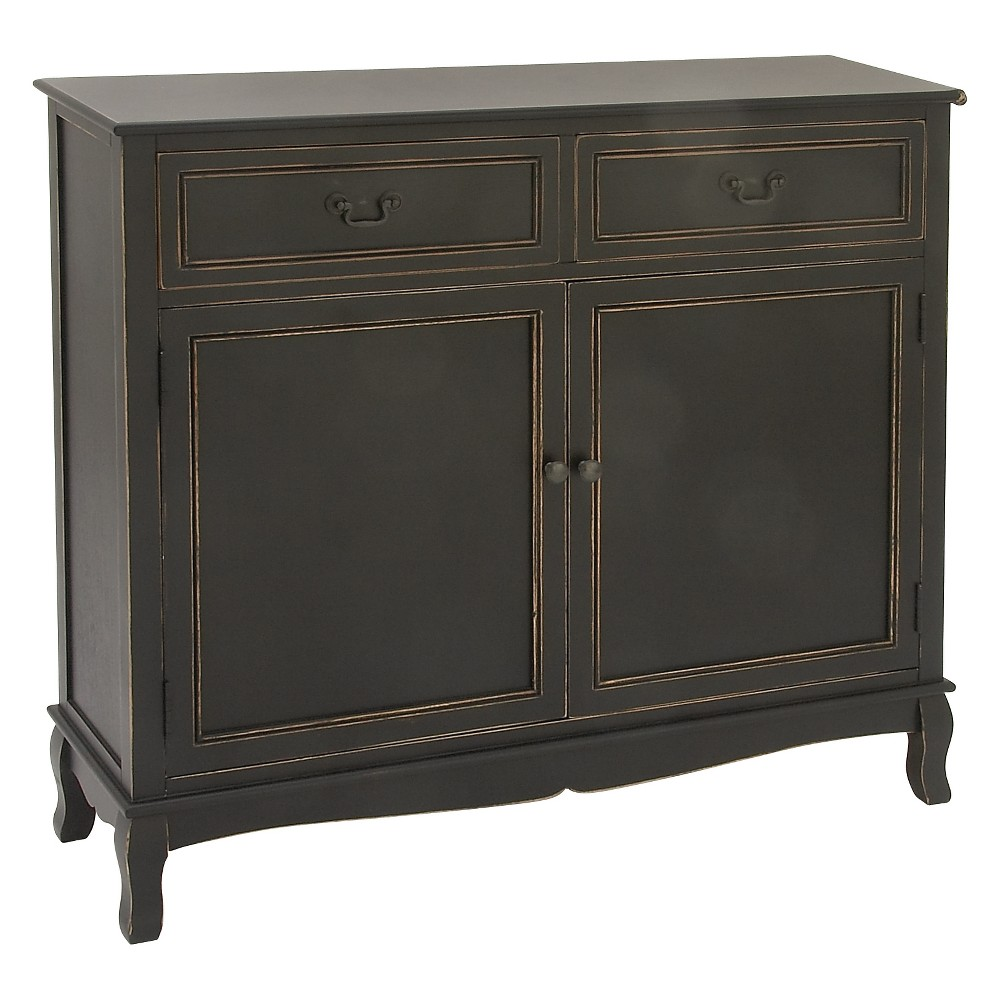 Wood Black Rectangular Buffet Black - Olivia & May