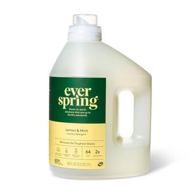 Laundry Detergent - Lemon & Mint - 100 fl oz - Everspring™