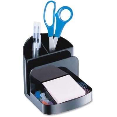 "Officemate Rcyl'd Desktop Organizer 5-Comp 5-3/8""x6-3/4""x5"" Black 26022"