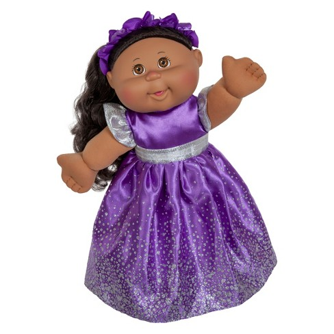 Cabbage Patch Kids Holiday Baby Doll Purple Dress 14 Target