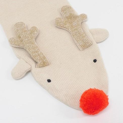 Meri Meri - Knitted Reindeer Scarf - Scarves - Christmas - 1ct - image 1 of 4