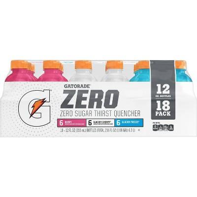 Gatorade Zero Mixed Flavor Variety Pack Sports Drink - 18pk/12 fl oz Bottles