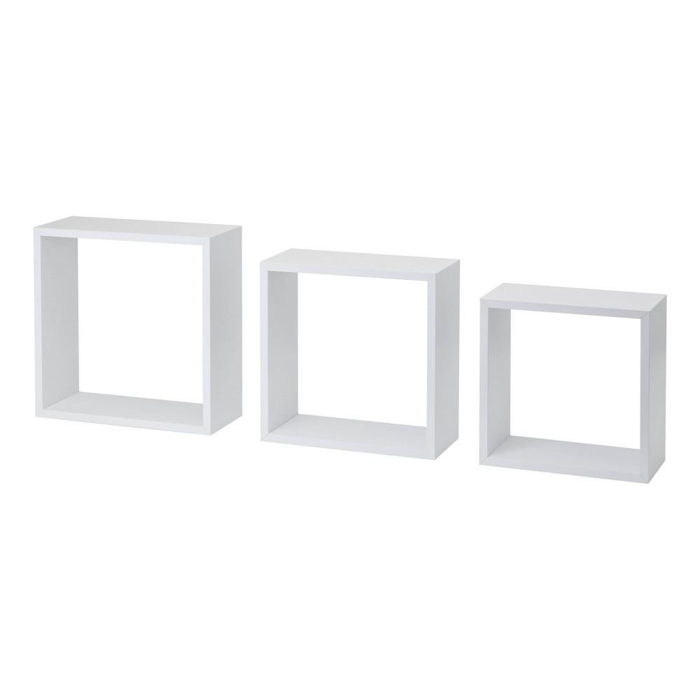 Image of 3pc Cube Shelf Set White - Dolle Shelving
