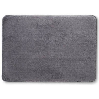 "24""x40"" Velveteen Memory Foam Bath Rugs and Mats Pigeon Gray - Room Essentials™"