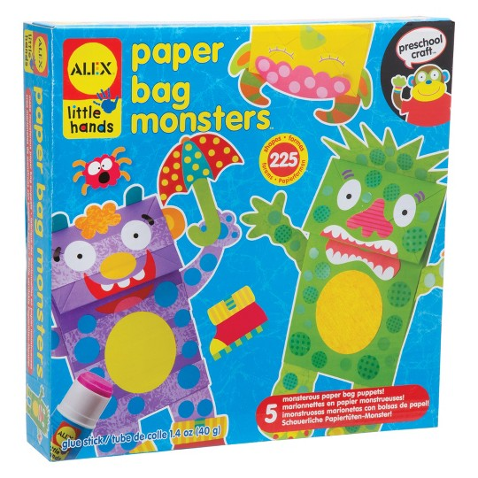 Alex Toys Little Hands Paper Bag Monsters, Adult Unisex image number null