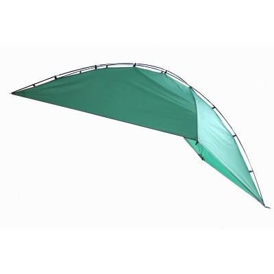 KingCamp KAMPAWN319 SUV Sport Multi Use Outdoor Shade Shelter Tent Camping Awning w/ 3 Poles, 2 Legs, & Carry Bag, Jolly Green