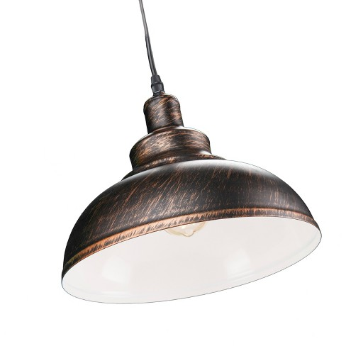Maeve Bell Pendant Lamp - Rustic Black/Copper - Aiden Lane - image 1 of 7