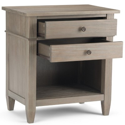 """24"""" Sterling Solid Wood Nightstand Distressed Gray - Wyndenhall : Target"""
