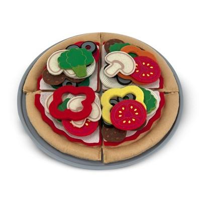 Melissa & Doug Felt Food Mix 'n Match Pizza Play Food Set (40pc)