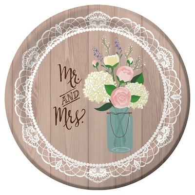"Rustic Wedding 10"" Banquet Plates - 8ct"