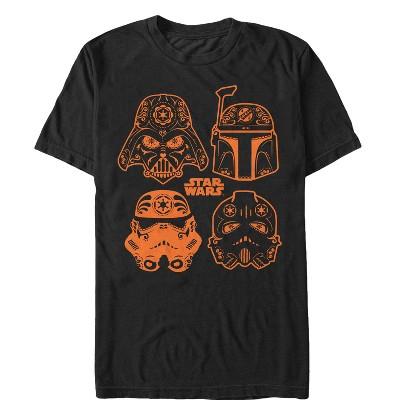 Men's Star Wars Halloween Sugar Villains Helmets T-Shirt
