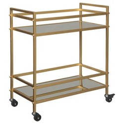 Kailman Bar Cart Gold Finish - Signature Design by Ashley