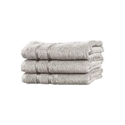 3pc Rayon from Bamboo Washcloth Set Gray - Cariloha