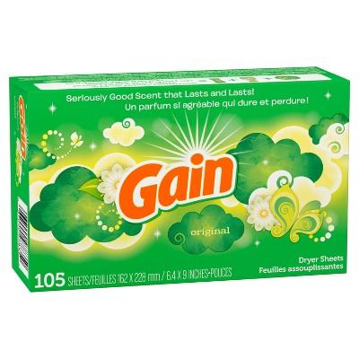 Gain Original Dryer Sheets - 105ct