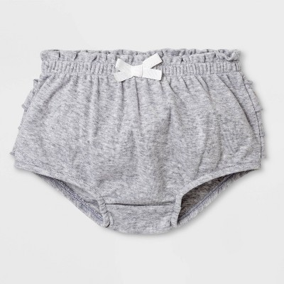 Baby Girls' Ruffle Bloomer Pull-On Shorts - Cat & Jack™ Gray 6-9M