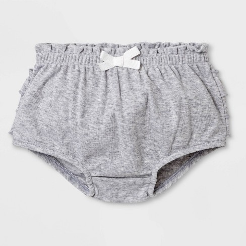 Baby Girls' Ruffle Bloomer Pull-On Shorts - Cat & Jack™ Gray - image 1 of 2
