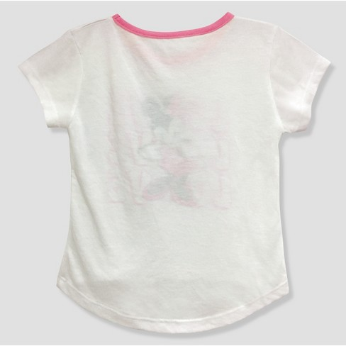 c1f58d01f Toddler Girls' Mickey Mouse & Friends Minnie Mouse Short Sleeve T-Shirt -  White 18M : Target