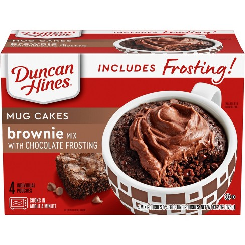 Duncan Hines Brownie Cake Mix with Chocolate Frosting - 14.4oz - image 1 of 3