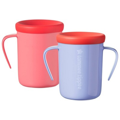 Tommee Tippee 2pk 360 Trainer Cup - Lavender/Cherry