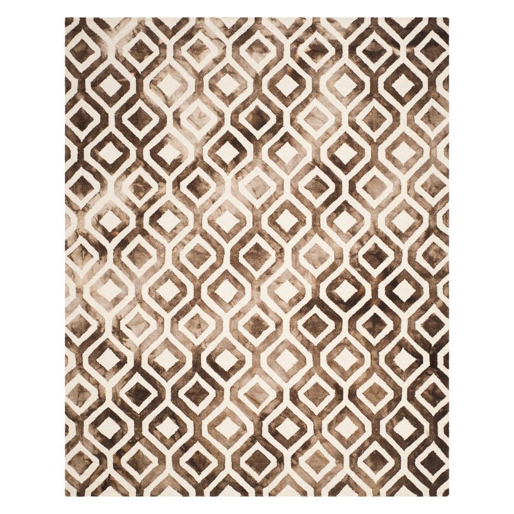 9'X12' Geometric Area Rug Ivory/Chocolate (Ivory/Brown) - Safavieh