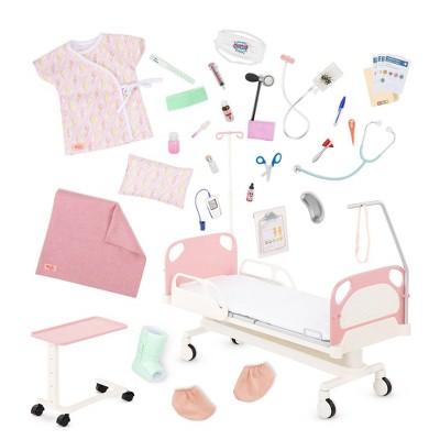 "Our Generation Adjustable Hospital Bed & Doctor Set for 18"" Dolls - Get Well Bed"