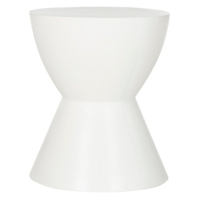 Athena Round Concrete Accent Table - Ivory - Safavieh