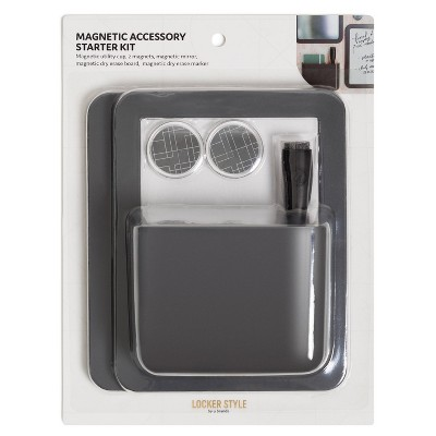 U Brands Magnetic Locker Accessory Starter Kit - Black