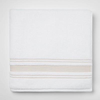 Performance Bath Sheet Tan Stripe - Threshold™