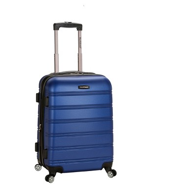 """Rockland Melbourne 20"""" Expandable ABS Carry On Suitcase - Blue"""