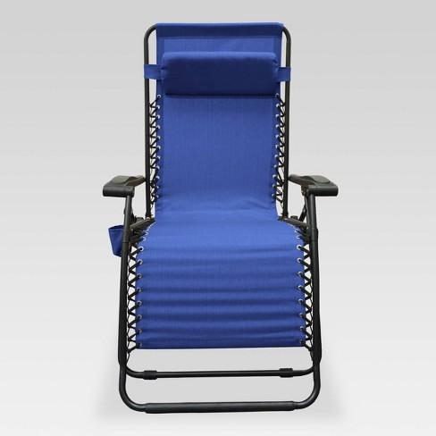 Outdoor Patio Infinity Big Boy Zero Gravity Chair Blue - Caravan - image 1 of 3