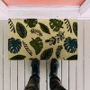 """TAG 1'6"""" x 2'6"""" Foliage Coir Doormat Indoor Outdoor Welcome Mat Leaves Floral - image 2 of 4"""
