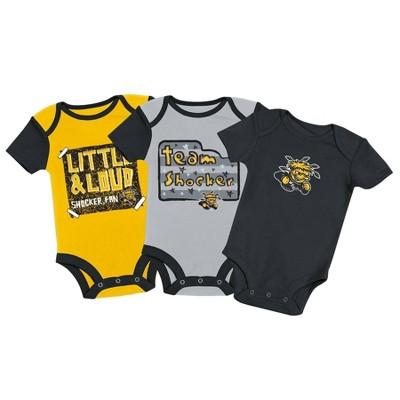 NCAA Wichita State Shockers Baby Boys' 3pc Bodysuit Set